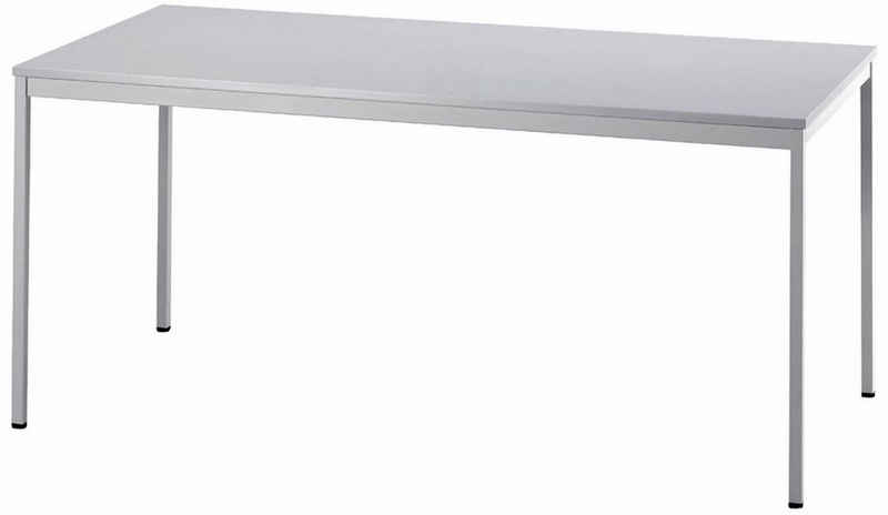 bümö Konferenztisch »OM-VS16«, Meetingtisch & Besprechungstisch System - Rechteck: 160 x 80 cm - Gestell: Grau, Dekor: Grau