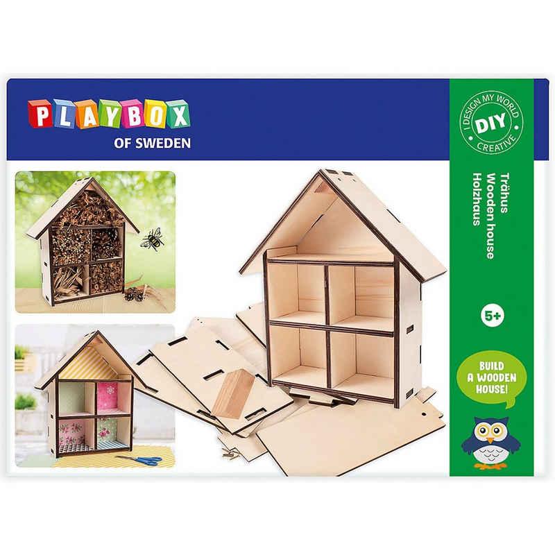 Playbox Holzbaukasten »Bastelset, Holzhaus«