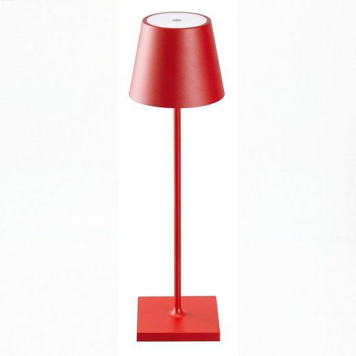SIGOR LED Tischleuchte »Nuindie - Rote LED Akku-Tischlampe Indoor & Outdoor, dimmbar und aufladbar mit Easy-Connect, 9h Leuchtdauer«