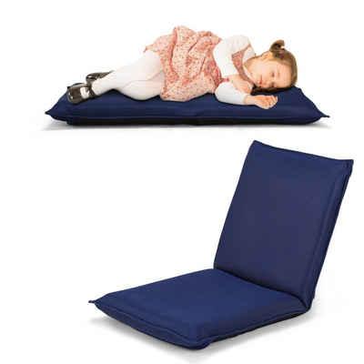 COSTWAY Relaxsessel »Bodenstuhl, Bodensessel, Fensterstuhl, Lazy Sofa«, mit 6-stufig Verstellbarer Rückenlehne