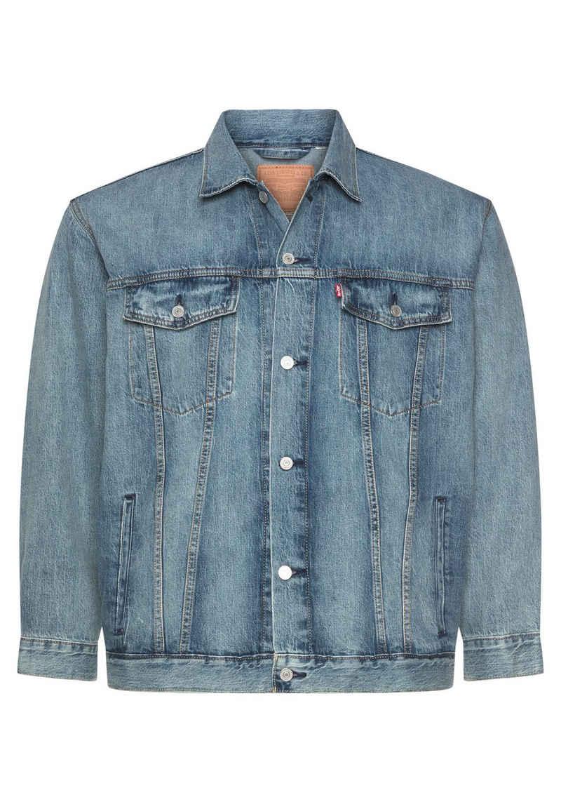 Levi's® Plus Jeansjacke »Big Trucker« mit Ziernähten