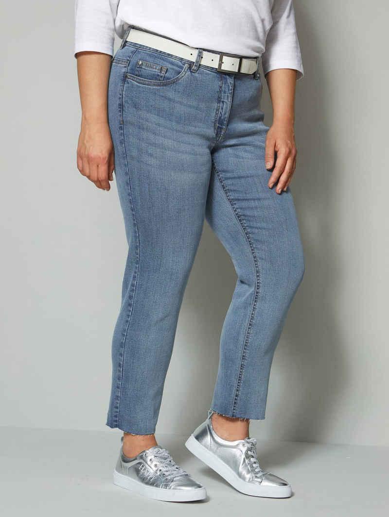 Angel of Style 7/8-Jeans mit offenem Saum