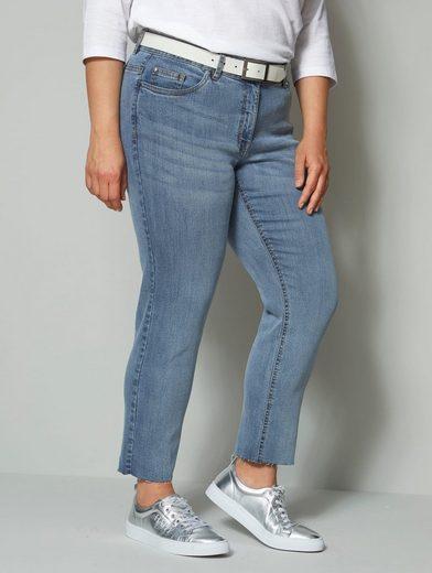Angel of Style by HAPPYsize 7/8-Jeans mit offenem Saum