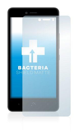 upscreen Schutzfolie »für BQ Aquaris U Lite«, Folie Schutzfolie matt entspiegelt antibakteriell