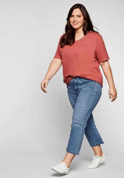 Sheego Bootcut-Jeans in 7/8-Länge mit Deko-Taschen