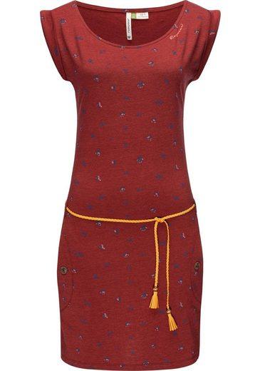 Ragwear Sommerkleid »Tag B Organic II« leichtes Baumwoll Kleid mit Print & Bindeband