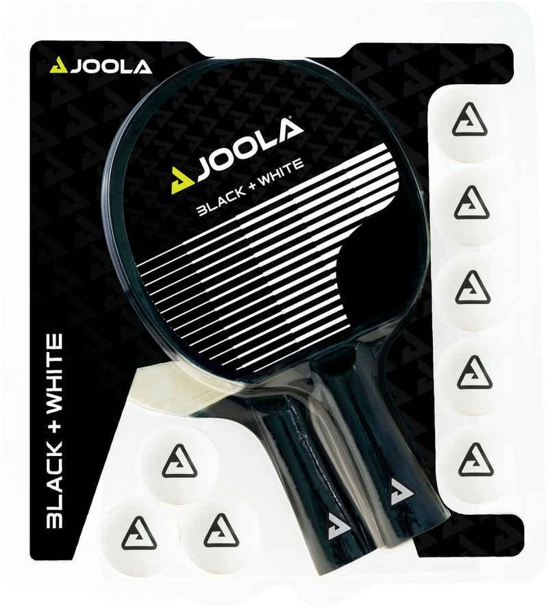 Joola Tischtennisschläger »JOOLA Tischtennis-Set BLACK + WHITE« (Set, 10-tlg., mit Bällen)