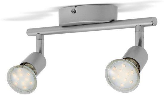 B.K.Licht LED Deckenleuchte  LED Deckenspot inkl. 2 GU10 Leuchtmittel 3W