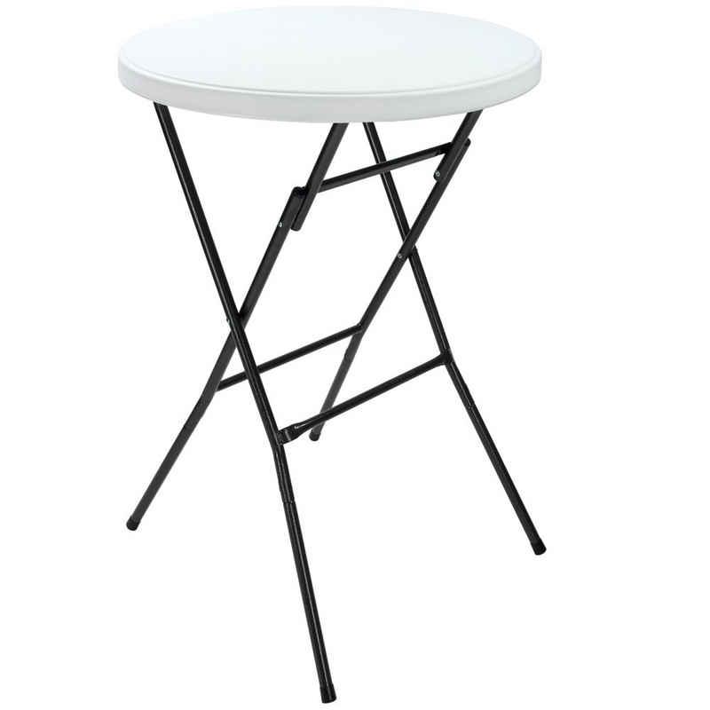 Casaria Stehtisch (1-St), klappbar • robuste Tischplatte • Stabile Konstruktion • leicht zu verstauen • platzsparend zu transportieren • Kofferraumfreundlich • lackiertes Stahlgestell