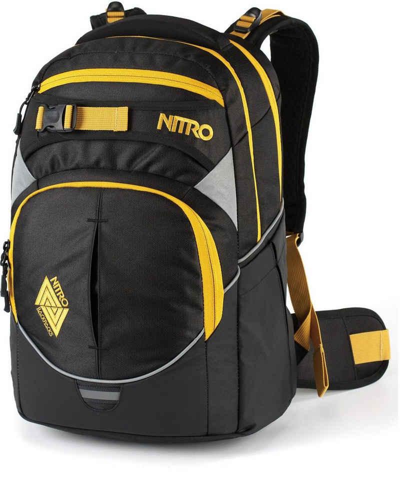NITRO Schulrucksack »Superhero, Golden Black«