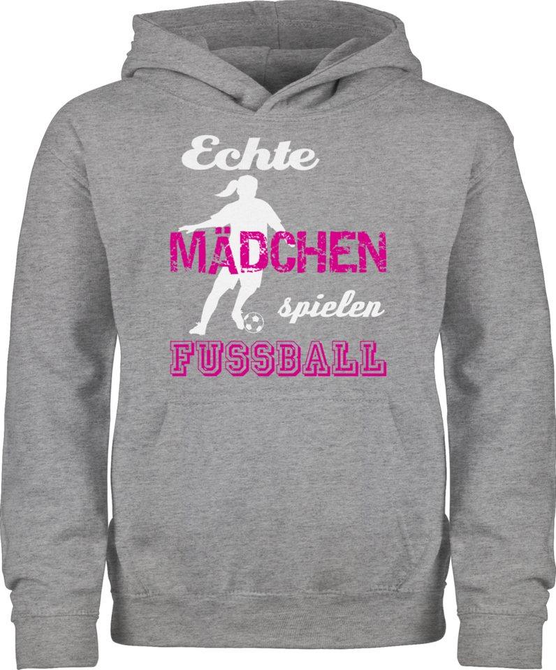 Shirtracer Hoodie »Echte Mädchen spielen Fußball weiß