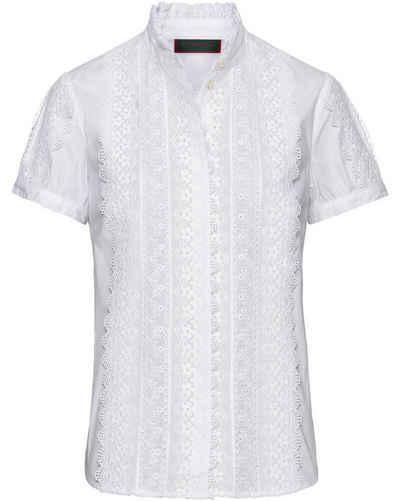 Reitmayer Trachtenbluse »Halbarm-Bluse mit Spitze«
