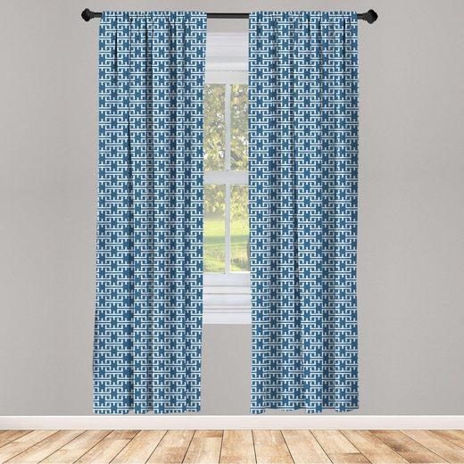 Gardine »Fensterbehandlungen 2 Panel Set für Wohnzimmer Schlafzimmer Dekor«, Abakuhaus, Herz Abstrakt Einfachheit Formen