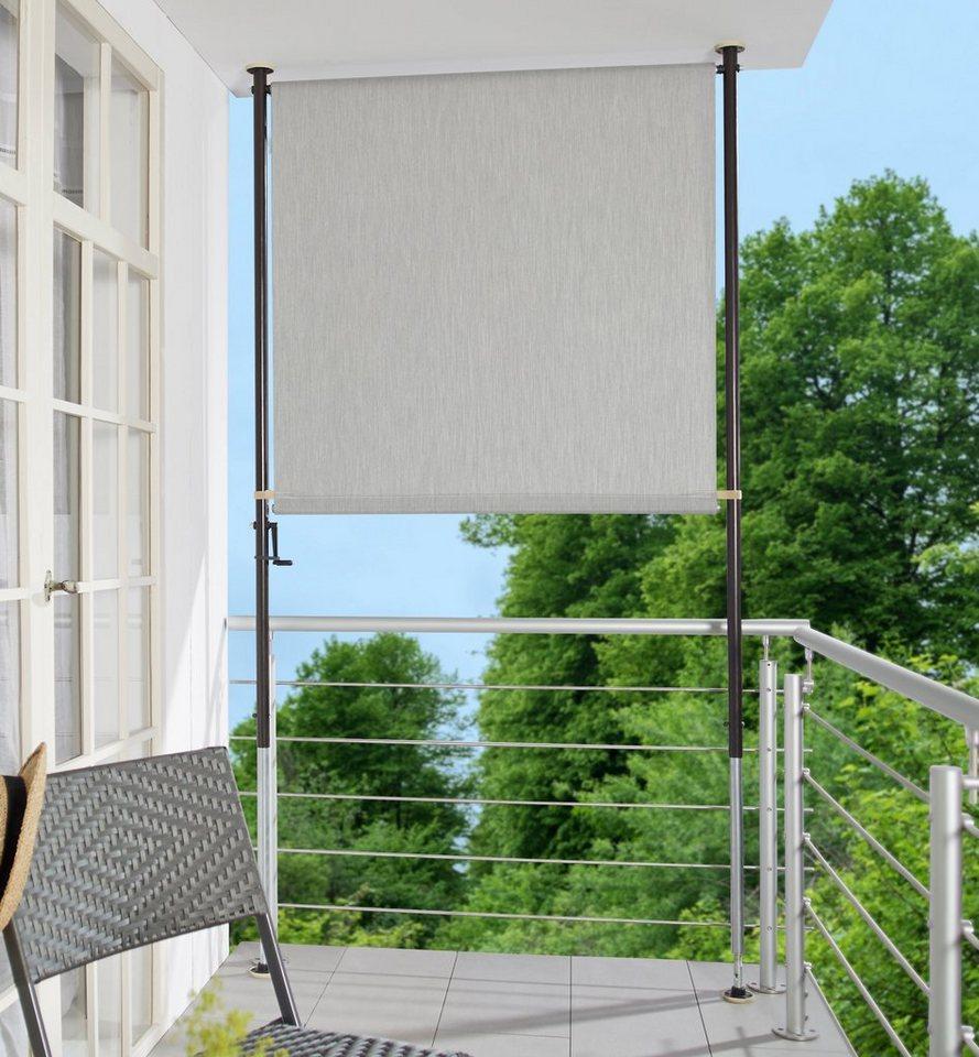 Angerer Freizeitmobel Balkonsichtschutz Granitgrau Bxh 150x225