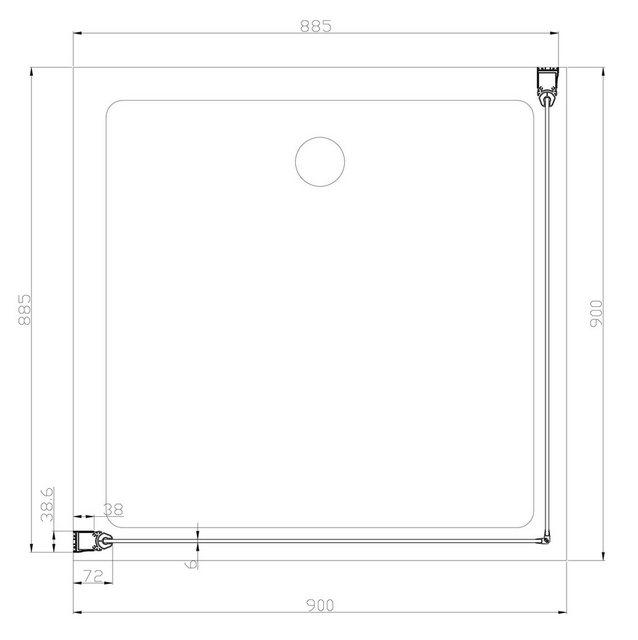 Duschen und Zubehör - welltime Eckdusche »Florenz«, BxT 90x90 cm, Sicherheitsglas, barrierefrei  - Onlineshop OTTO