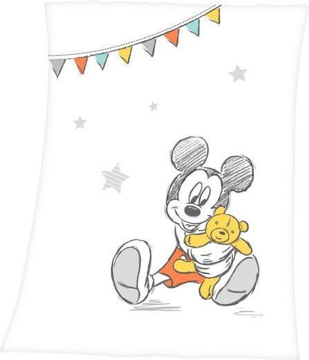 Babydecke »Disney´s Mickey Mouse«, Walt Disney, mit niedlichem Mickey Mouse Design