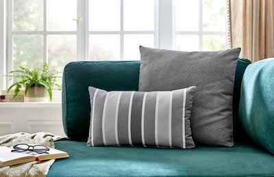 Kissenhüllen »Knautschkumpel«, COUCH♥ (2 Stück), mit Streifen und unifarben, Couch Lieblingsstücke