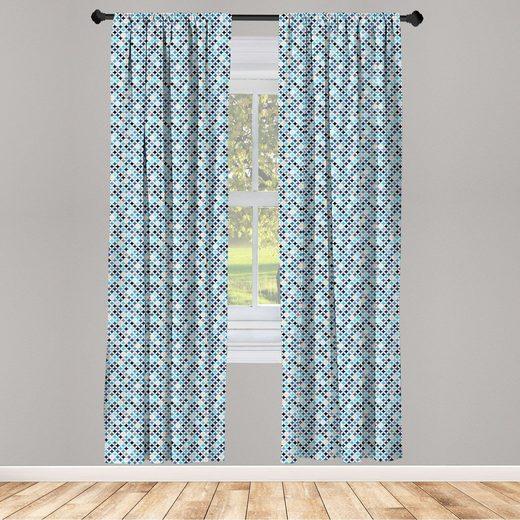 Gardine »Fensterbehandlungen 2 Panel Set für Wohnzimmer Schlafzimmer Dekor«, Abakuhaus, Geometrisch Moderne blaue Kreise