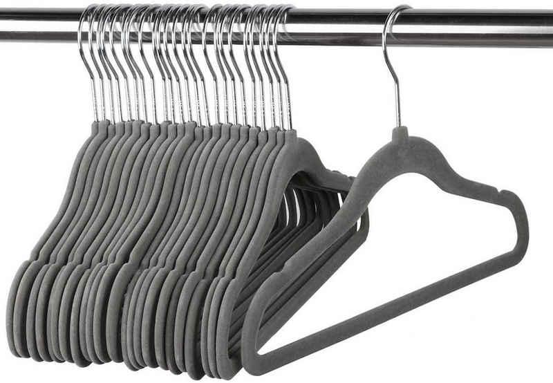 Homewit Kleiderbügel »10-100 Stück Samt Kleiderbügel mit Haken Anti-Rutsch Kinder Kleiderbügel Babykleiderbügel«, (Set, 10-tlg), Ideal für Baby, Kind und Dame