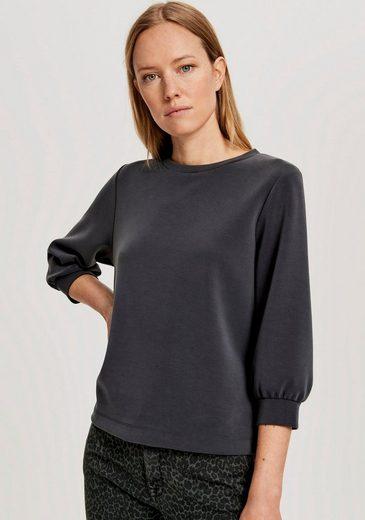 OPUS Sweatshirt »Gilka« mit leichten Ballon-Ärmeln