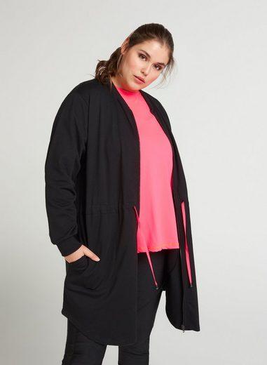 Zizzi Cardigan Große Größen Damen Cardigan mit Reissverschluss und justierbarer Taille