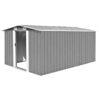 vidaXL Gartenhaus »vidaXL Geräteschuppen 257x392x181 cm Metall Grau«