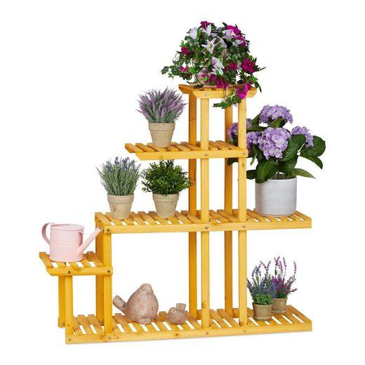 relaxdays Blumentisch »XL Blumenregal Holz mit 5 Etagen«