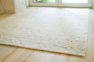 Wollteppich »Korinth«, Steffensmeier, Rechteckig, handgewebt, Handweb Teppich, Höhe: ca. 10 mm, reine Schurwolle, Schlafzimmer, Wohnzimmer