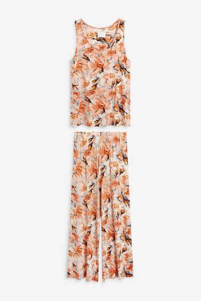 Next Pyjama »Pyjama mit Trägertop aus Webstoff« (2 tlg)
