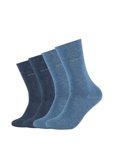 Camano Socken (4-Paar) mit innovativem Piquée-Bund