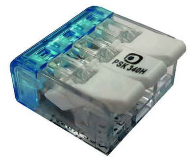 Technikgrosshandel Montageklemme »100 Stück Steckklemme mit Hebel PSK 340H 3x0,2-4,0qmm«, (100-tlg)