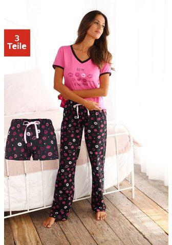 Vivance Dreams Pižama (3 tlg) su Kussmund Print