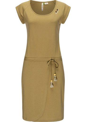 Ragwear Jerseykleid »Glitter Organic« stylisches Shirtkleid mit süßem Gürtel