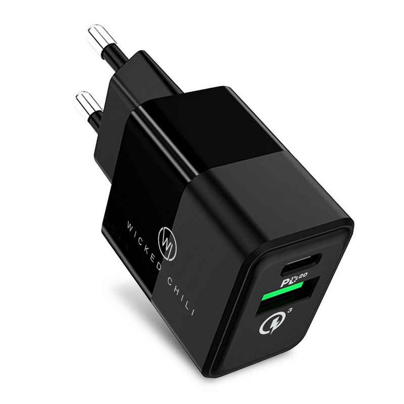 Wicked Chili »Wicked Chili 20W Dual USB-Netzteil mit Quick Charg« Handy-Netzteile