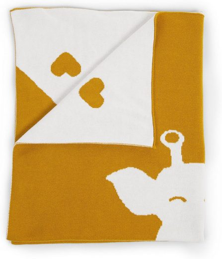Kinderdecke »Kuscheldecke, Giraffe, weiß/ecru, 85x70 cm«, CHILDHOME
