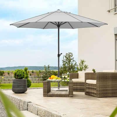 Schneider Schirme Marktschirm »Adria«, Durchmesser 350 cm, silbergrau, rund, ohne Schirmständer
