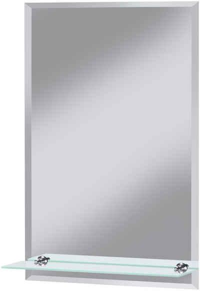 Welltime Badspiegel Flex 40 X 60 Cm Mit Glasablage Und Facettenschliff