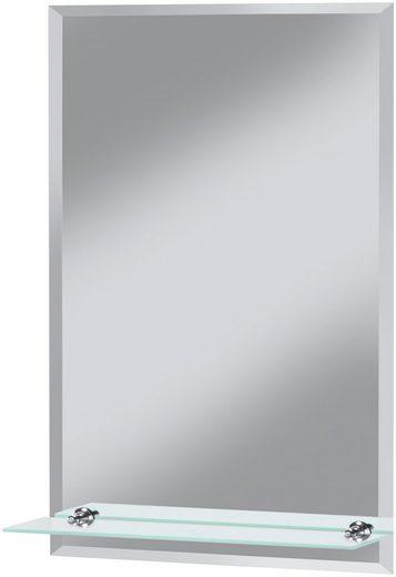 Badspiegel »Flex«, 40 x 60 cm, mit Glasablage und Facettenschliff