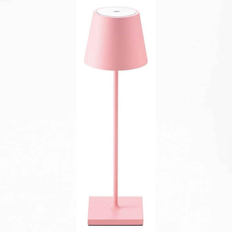 SIGOR LED Tischleuchte »Nuindie - Rosa LED Akku-Tischlampe Indoor & Outdoor, dimmbar und aufladbar mit Easy-Connect, 9h Leuchtdauer«