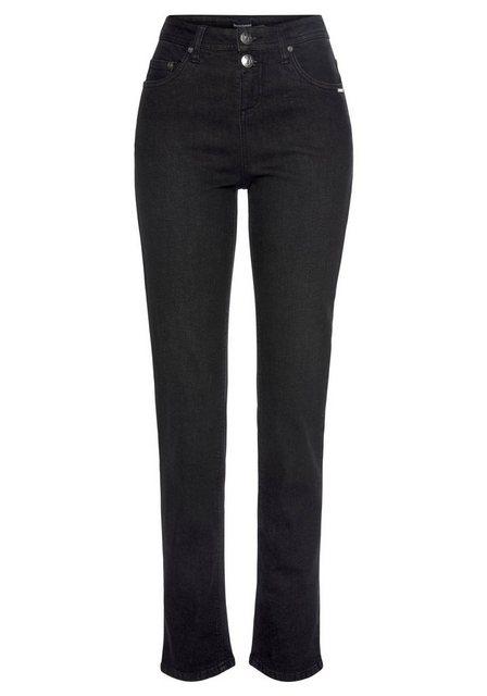 Hosen - Bruno Banani 5 Pocket Jeans mit zwei Knöpfen › schwarz  - Onlineshop OTTO
