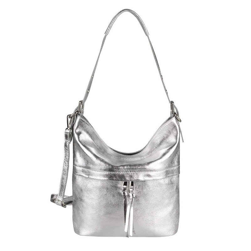 ITALYSHOP24 Schultertasche »Made in Italy Damen XL Leder Shopper«, als Handtasche, Henkeltasche, Umhängetasche tragbar