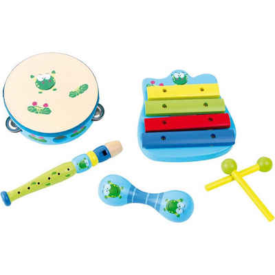 "Small Foot Spielzeug-Musikinstrument »Musik-Set ""Frosch""«, (6 tlg)"