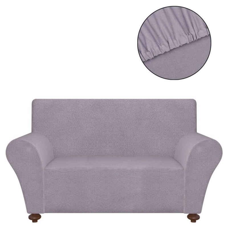 Hussen-Set »vidaXL Sofahusse Sofabezug Stretchhusse Grau Polyester-Jersey«, vidaXL