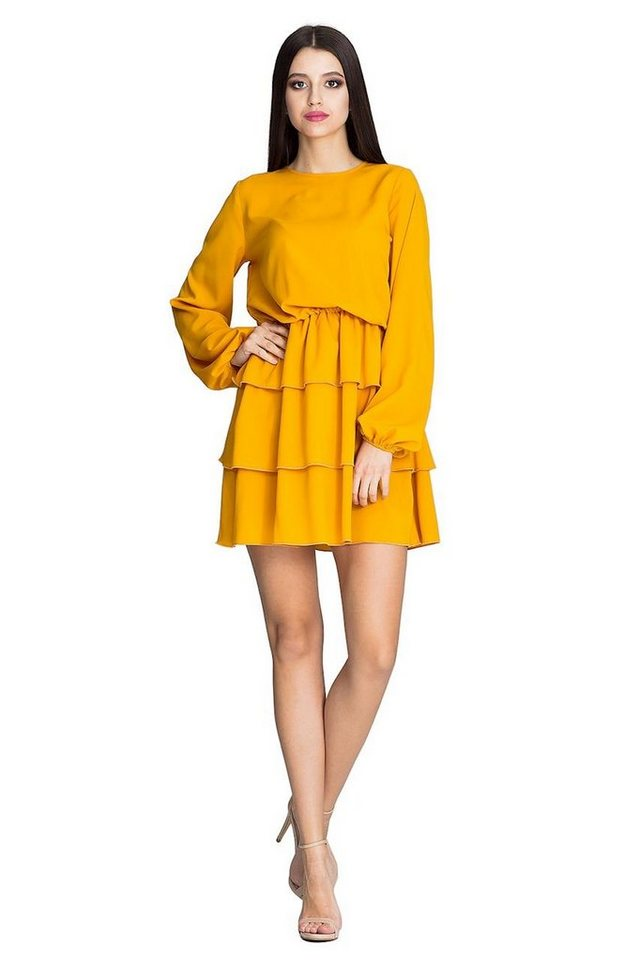 figl -  Jerseykleid mit weiten Rüschen