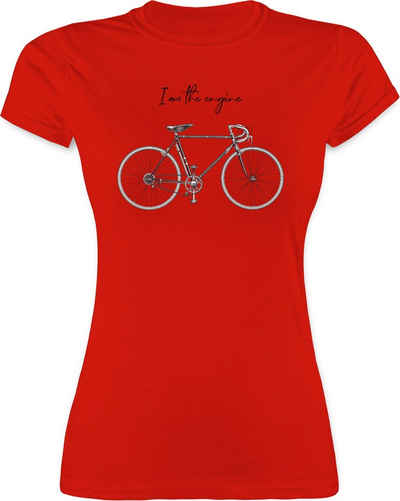 Shirtracer T-Shirt »I am the engine - Radsport - Damen Premium T-Shirt«