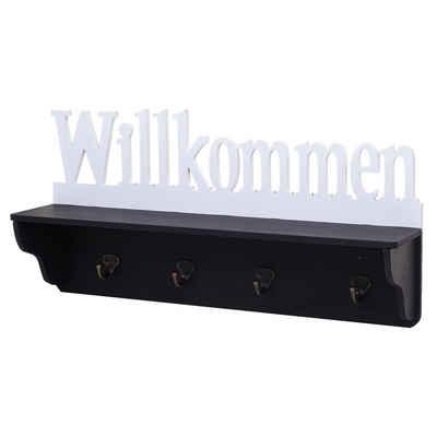 MCW Garderobenpaneel »MCW-D41-w«, 4 Haken, Ablagefläche, Kleiderhaken individuell anbringbar
