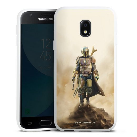 DeinDesign Handyhülle »The Mandalorian Rock« Samsung Galaxy J3 (2017), Hülle The Mandalorian Star Wars Offizielles Lizenzprodukt