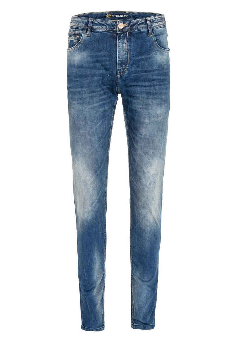 Cipo & Baxx Bequeme Jeans mit lässiger Waschung in Slim Fit