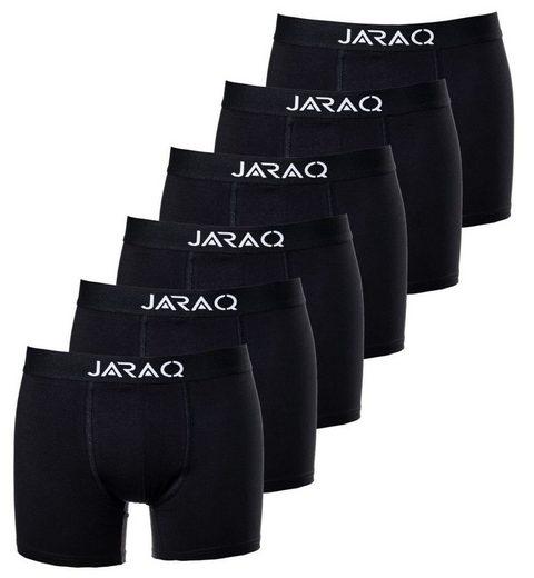 JARAQ Boxershorts »Baumwoll Unterwäsche 6er-Pack Schwarz« (6 Stück)