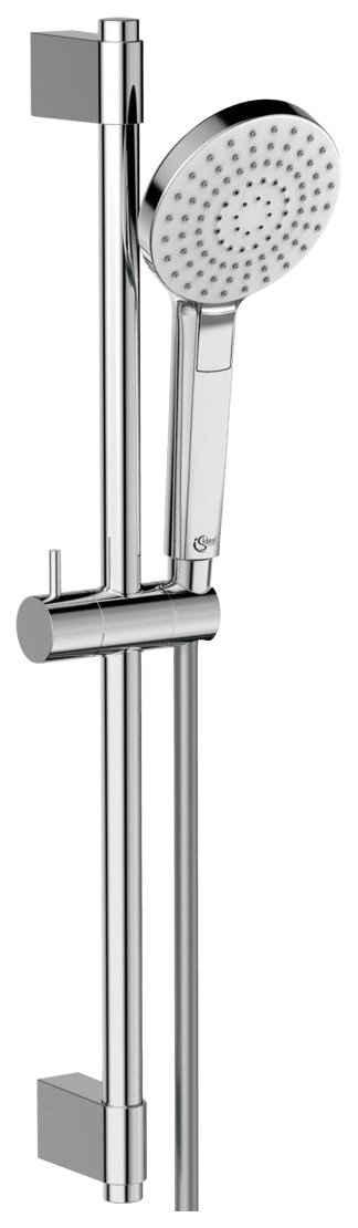 Ideal Standard Brausegarnitur »Ideal Rain EVO«, Höhe 90 cm, 3 Strahlart(en), Set, 3 tlg., 900 mm Brausestange, Handbrause mit 3 Strahlarten